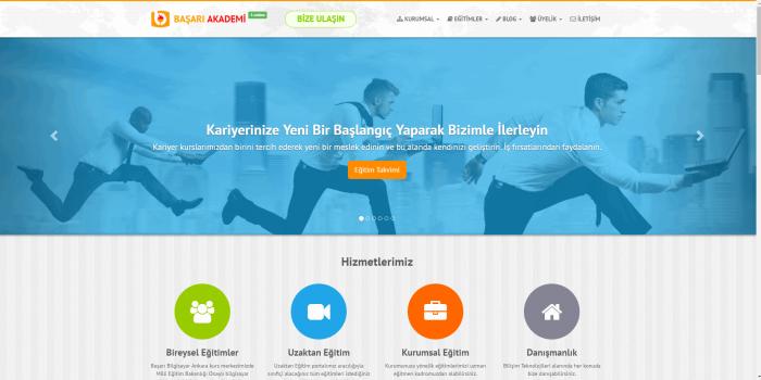 Başarı Akademi Websitesi ve Yönetim Paneli